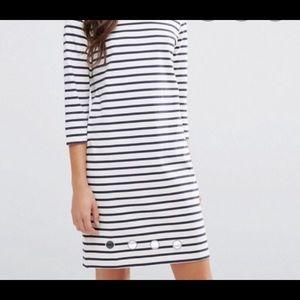 GANNI old spice jersey striped dress size small